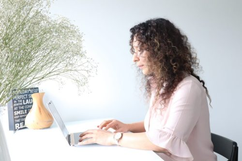 Counsellor waiting for client online
