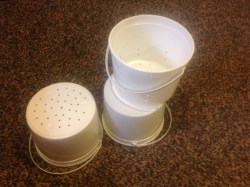 Nesting buckets to use as mold.