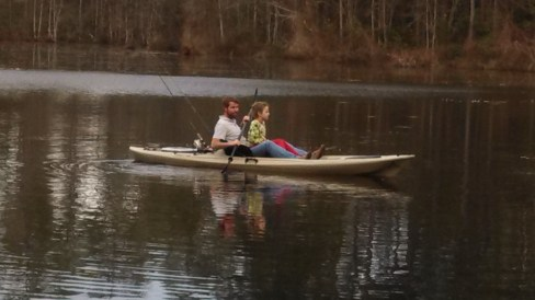 A little kayaking in the pond