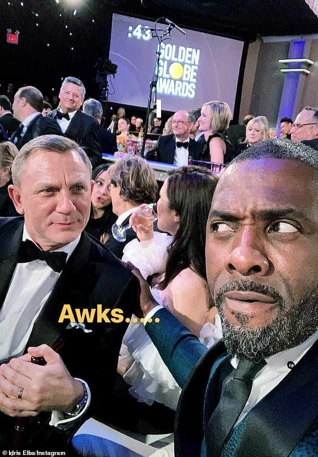 Idris Alba had fun with the speculation that he would be replacing Craig as 007 after he hangs up his guns (Instagram)