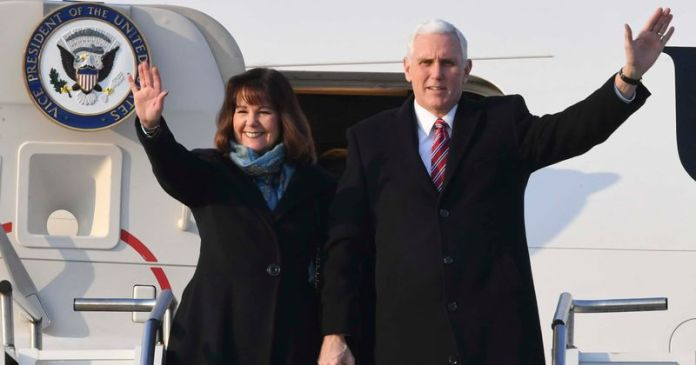 Image result for ice President Mike Pence and second lady Karen Pence have both tested negative