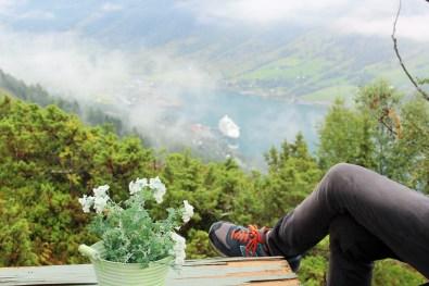 Blick auf den Innvikfjord