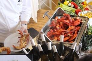 Lobster satt an Bord der Insignia