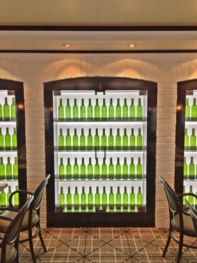 Weinschrank im La Cucina Restaurant