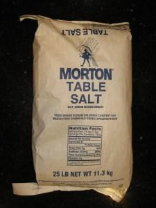 US Made Morton Brand 25 Pound Non-Iodized Salt - CheeseForum.org