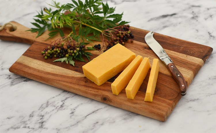 The colour of cheddar