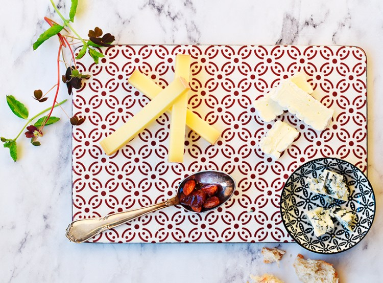 Dried fruit in port with cheese