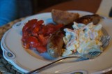Thüringer Roster and potatoe salad