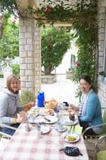 Breakfast outside in Lopar/Island Rab