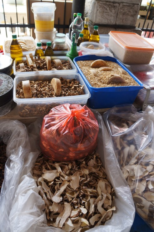 Local speciality - dried mushrooms