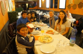 farewell dinner at la Soffitta Renovatio with our lovely Phillipino family