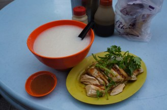 Rice porridge and chicken, my fav