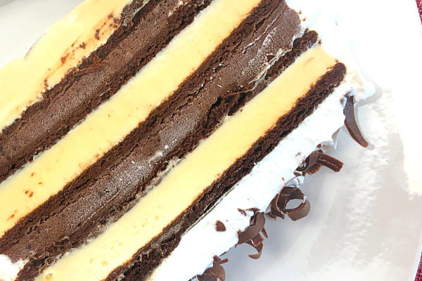 I've made this Ice Cream Sandwich Cake hundreds of times. It is fun to make, fun to slice, and fun to eat. I've used all kinds of ice cream sandwiches, too - mint, chocolate chip, and neopolitan. There's no bad combination when it comes to Ice Cream! #Summer #IceCreamSandwiches