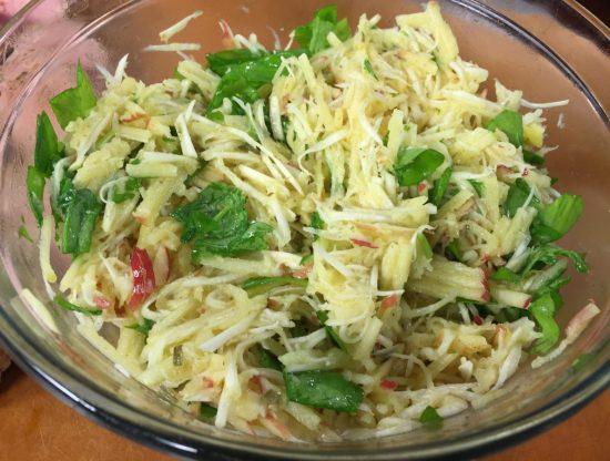 Apple and Celery Root Slaw with Watercress