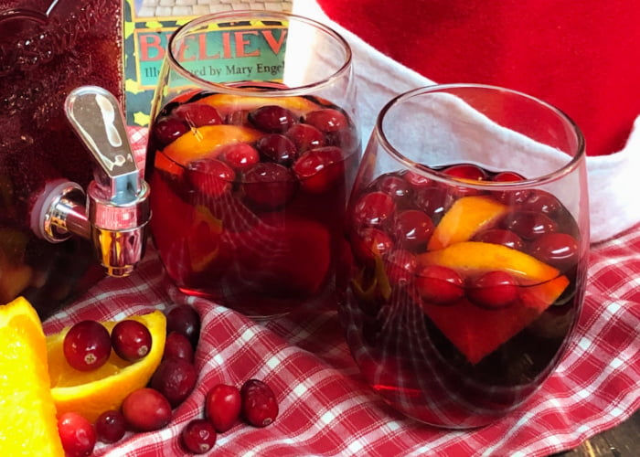 Holiday Sangria is a refreshing cocktail you can make by the pitcher-full.