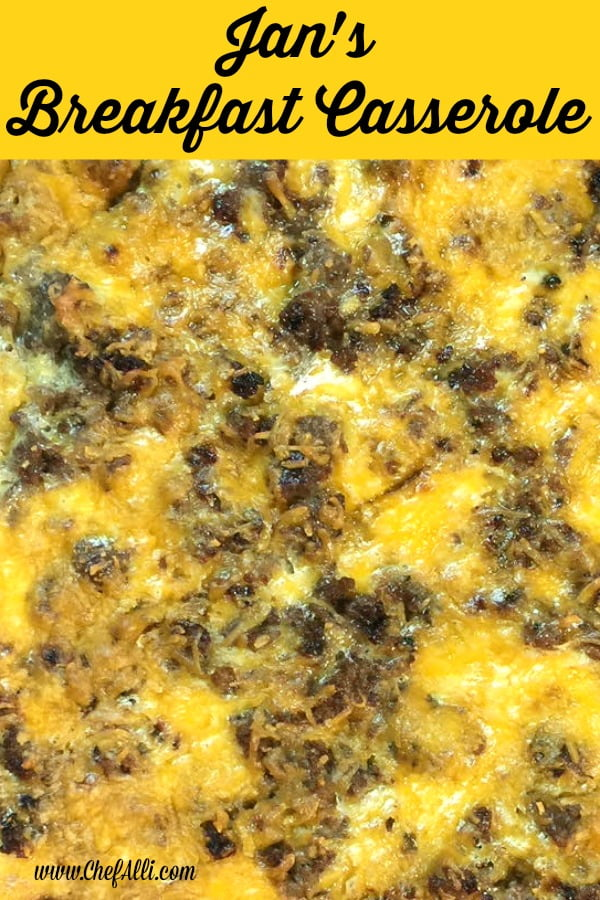 This breakfast casserole is SO good, you'll throw out all of your other recipes! Try Jan's Breakfast Casserole. You won't be disappointed!