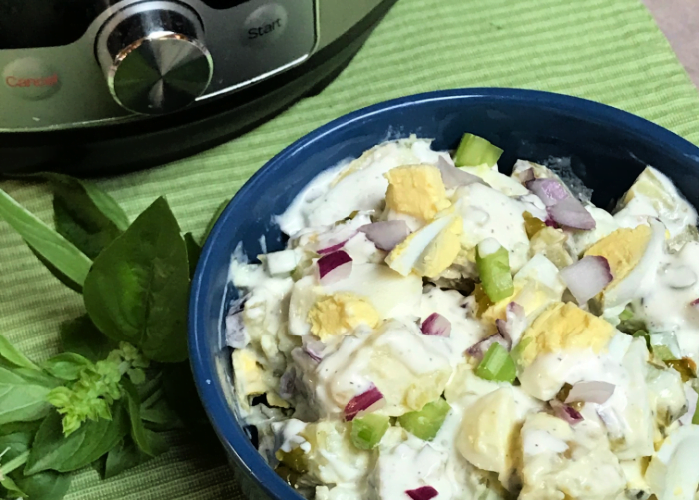 Instant Pot potato salad in just 4 minutes!