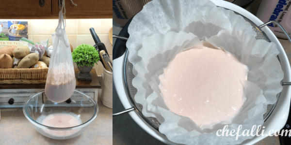 Straining Homemade Yogurt