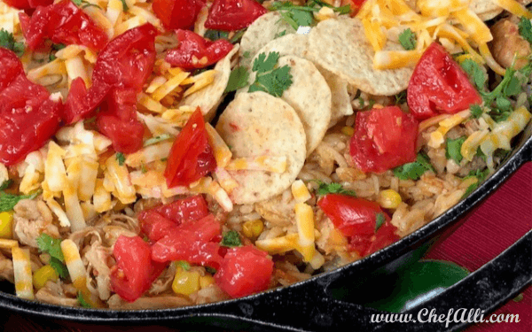 Skillet Chicken Nachos with Fire-Roasted Peppers | Chef Alli