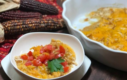Need a quick, easy, no-fuss meal your family will adore?? Here it is, a deliciousCheesy Chicken Tamale Casserole with all the classic flavors of authentic tamales!