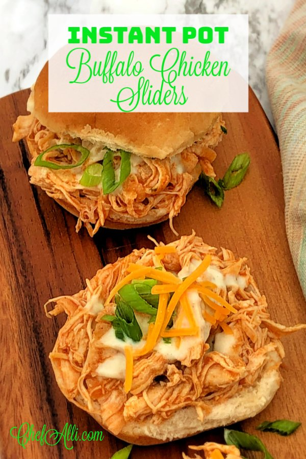 Instant Pot Buffalo Chicken Sliders are flavorful, easy and fast to make.