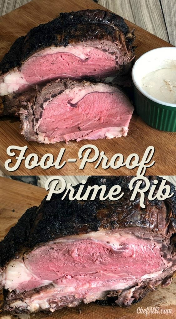 This is the best recipe for fool-proof medium-rare prime rib you'll ever find. As in.....You won't ever make it any other way! The first time I used this method to make prime rib, I was really apprehensive about it. A rib roast is definitely NOT an inexpensive piece of meat, so what if I ruin it?? All I can tell you is this: take a risk here, try this recipe and follow the instructions to the letter; I've used it several times and it works. #primerib