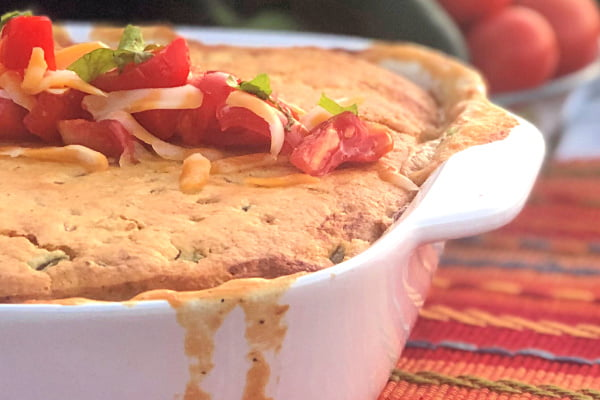 This 9 x 13 casserole is easy and hearty - with a creamy filling and a cornbread topping. #TexMex #chicken #casserole #weeknightmeal  #9x13 #jiffy #comfortfood