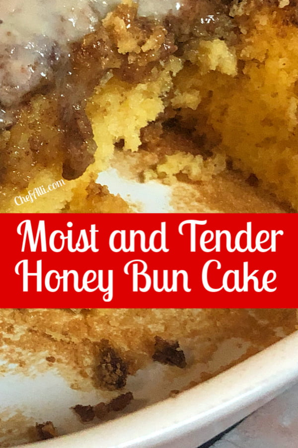 Moist and Tender Honey Bun cake is the best coffee cake.