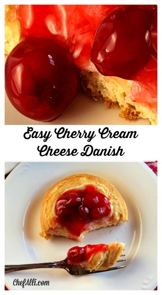 Here's a super easy homemade breakfast pastry your family will do handstands for - Cherry Cream Cheese Danish!