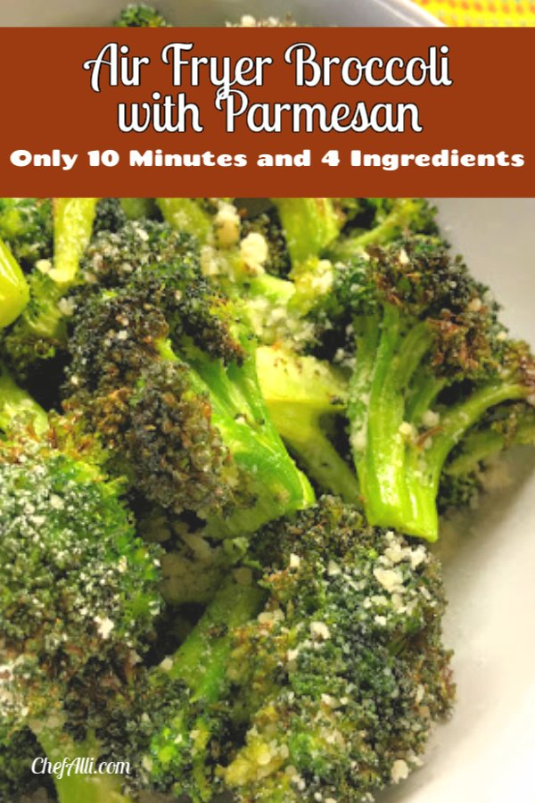 Roasted broccoli on a plate.