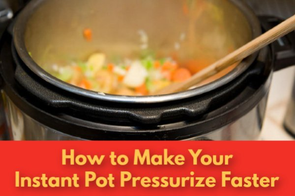 Instant Pot full of vegetables.