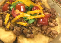 A spin on regular tacos - Fry Bread Tacos!