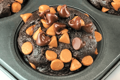 Bake a quick batch of Chocolate Peanut Butter Muffins.