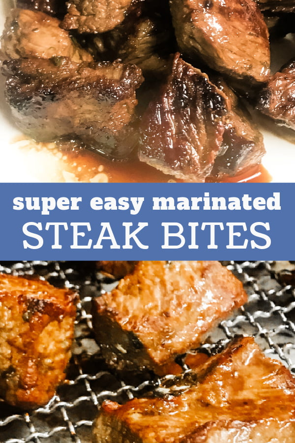 Marinated Steak Bites pictured up close.