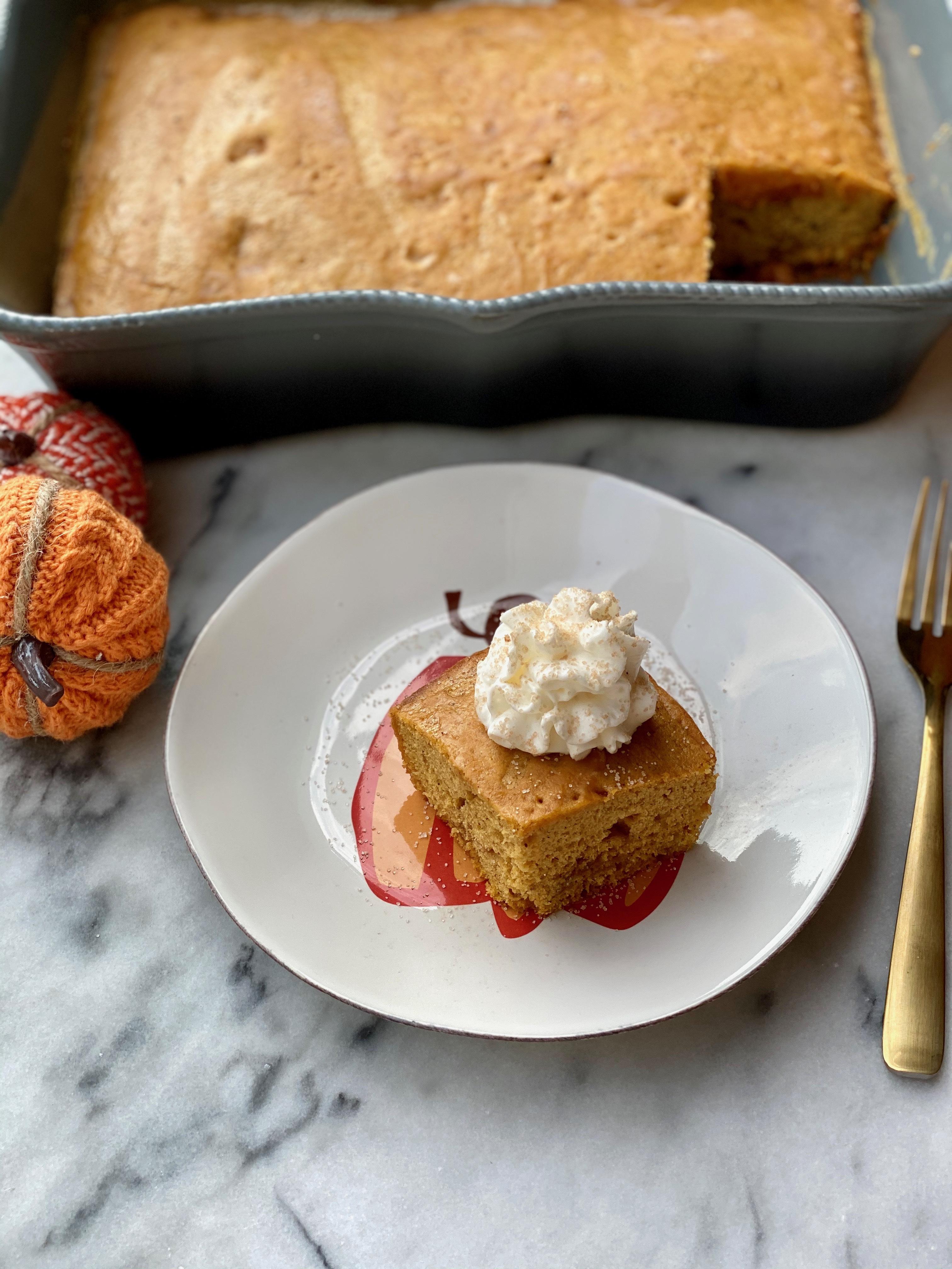 Pumpkin Spice Cake With Brown Sugar Center & Pumpkin Maple Glaze