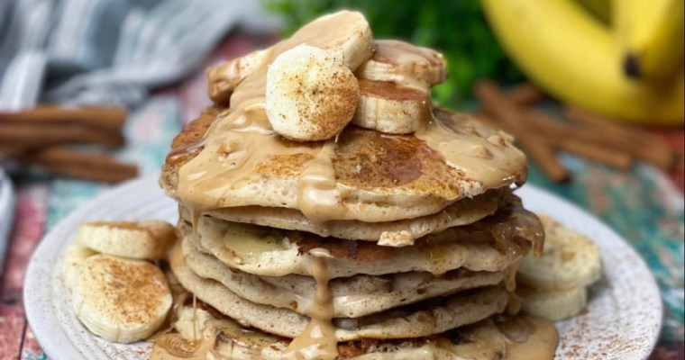 Peanut Butter Banana Cinnamon Pancakes