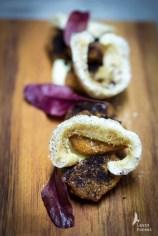 Boneless chicken wings, pork, black garlic