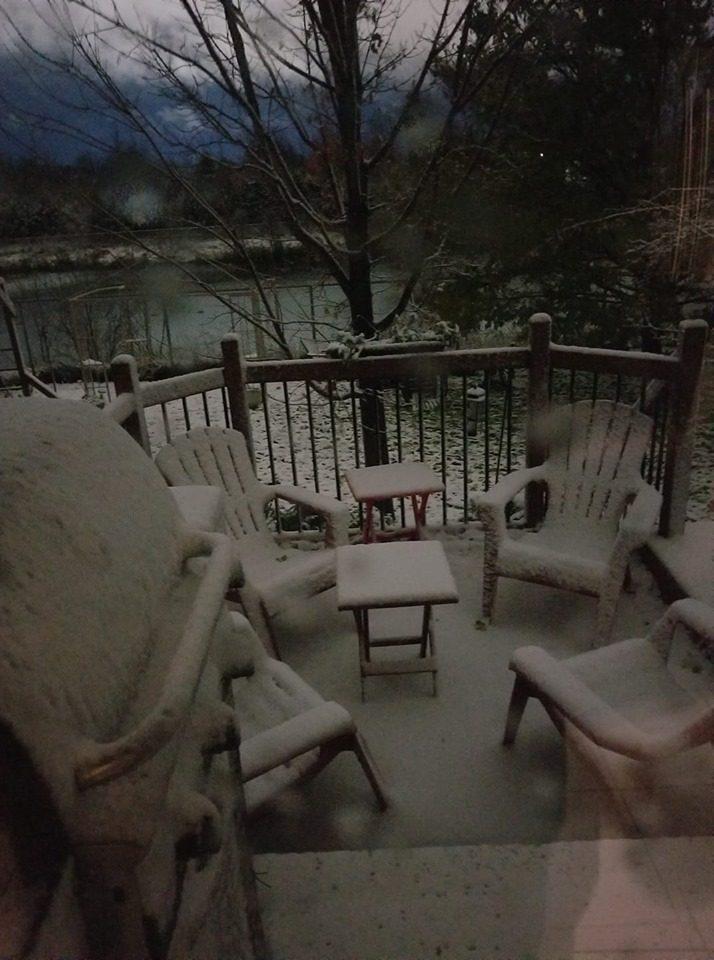 First snowfall. November 1, 2019