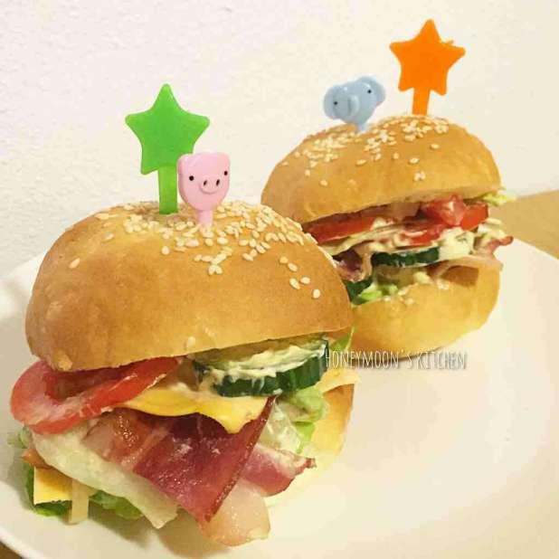自制漢堡包(湯種法)
