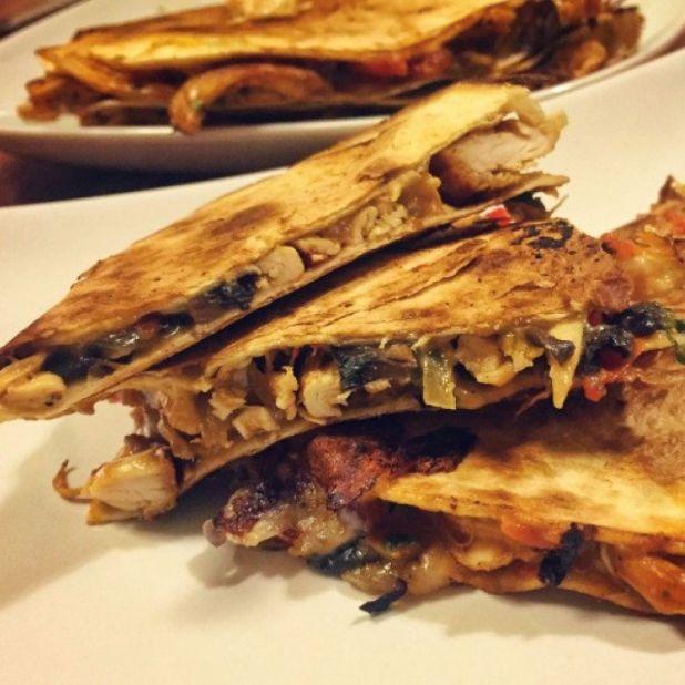 墨西哥芝士雞肉烤餅 (Chicken Quesadillas)