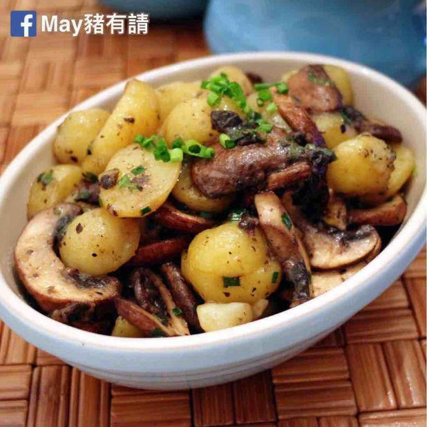 松露鮮菌薯仔暖沙律