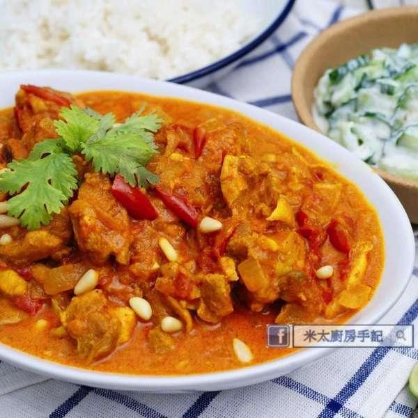 印度咖哩雞配香飯