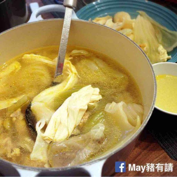 白胡椒咸菜花膠雞湯