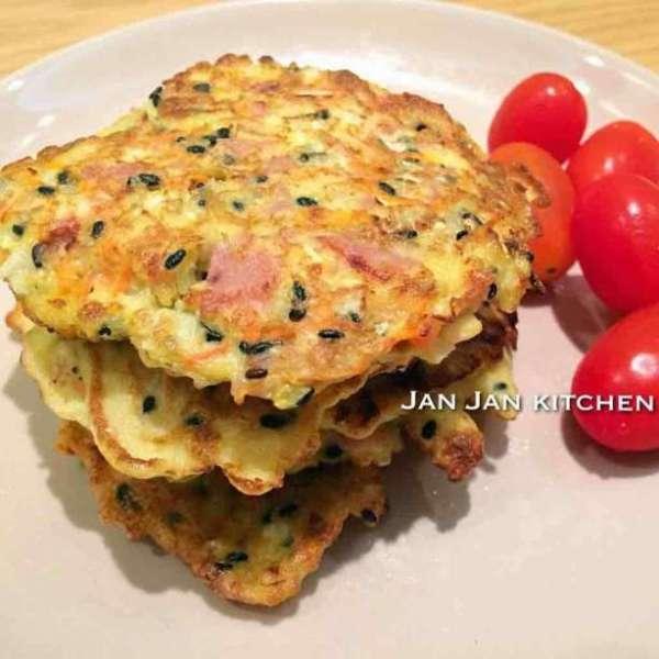健康黑芝麻蔬菜煎蛋餅
