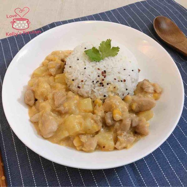 粟米薯仔雞粒