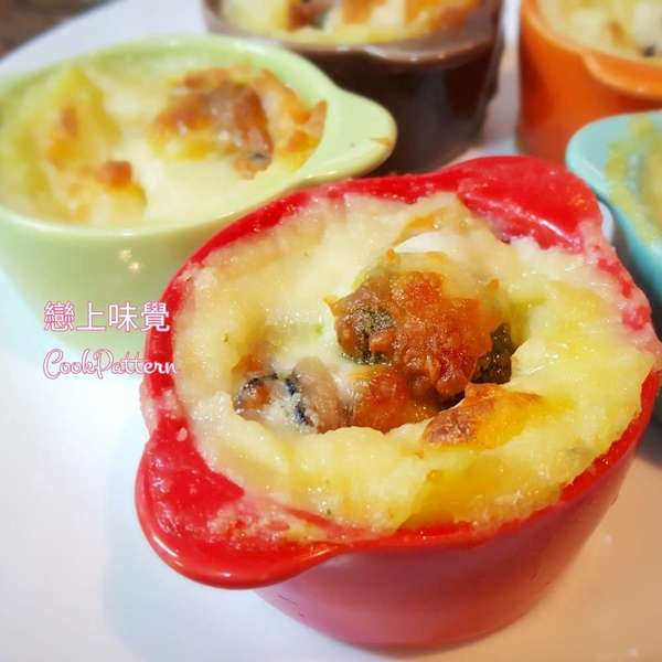 青醬薯蓉焗廣島蠔