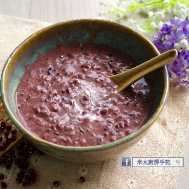 椰香紫米紅豆露