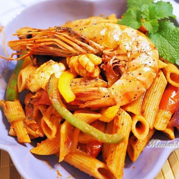 西西里汁大蝦海鮮長通粉