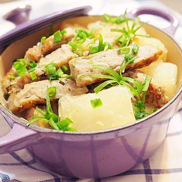 鹽麴柚子蜜白蘿蔔魚餅粉絲煲
