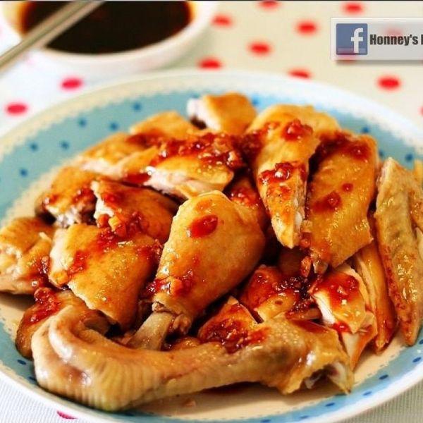 蒜蓉魚露甜辣醬雞